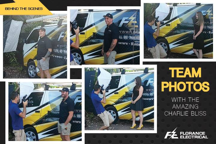 Team photos with the amazing Charlie Bliss | Florance Electrical